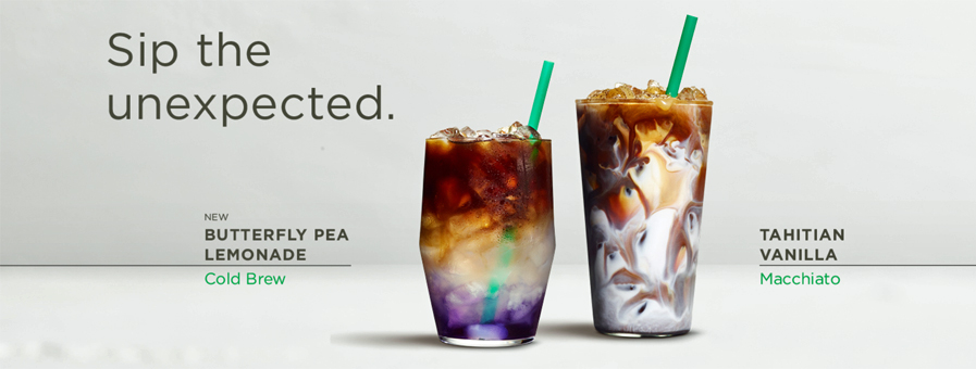 Starbucks introduces a color-changing Cold Brew coffee lemonade