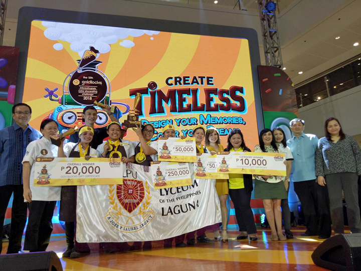 Lyceum of the Philippines wins the 12th Goldilocks Intercollegiate Cake Decorating Challenge