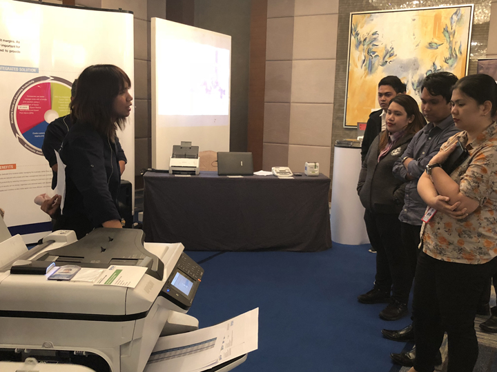 """The Epson Solutions and Technology showcase called """"Our Innovation Story"""",is a culmination of Epson's leading innovations across print, scan, label, projection and wearable solutions."""