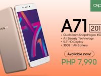 Entry-level OPPO A71 (2018) smartphone available on March 10 for P7,990