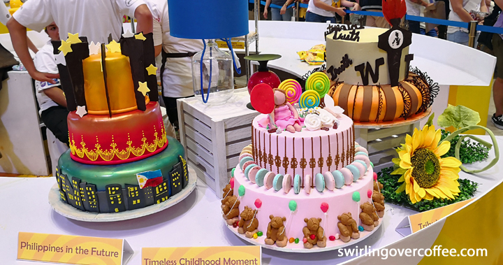 Western Institute of Technology Iloilo cake design entries at the 12th Goldilocks ICDC.