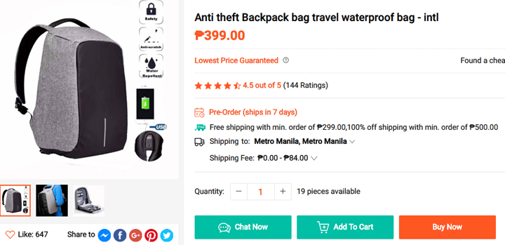 Get this Anti-Theft-Backpack from Shopee, download the Shopee app