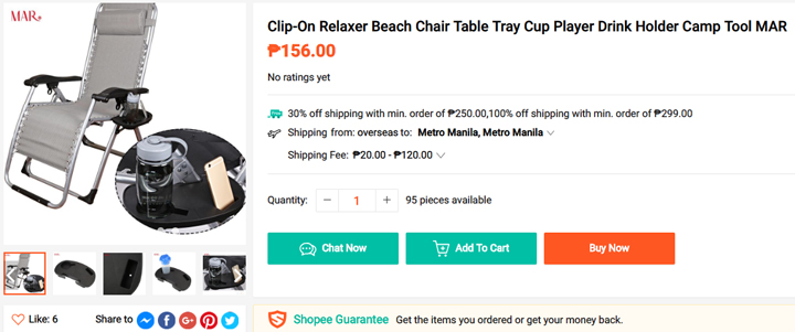 Get this beach chair from Shopee, download the Shopee app