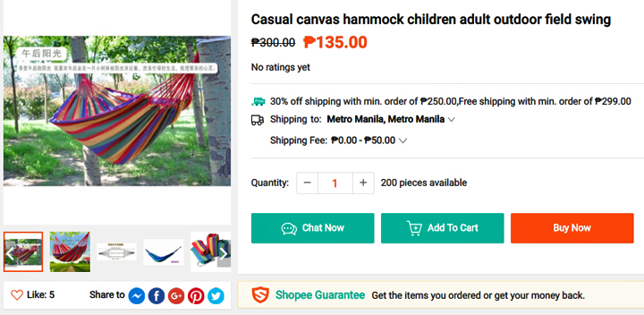 Get this hammock from Shopee, download the Shopee app