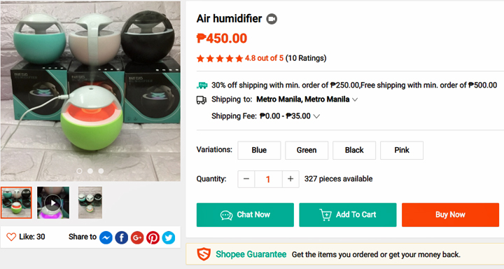 Get this humidifier from Shopee, download the Shopee app