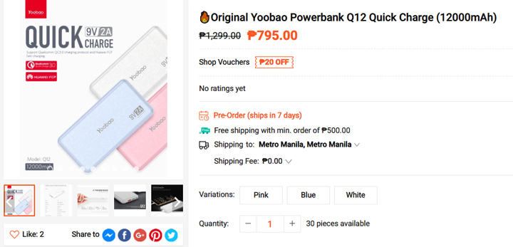 Get this Power-Bank from Shopee, download the Shopee app