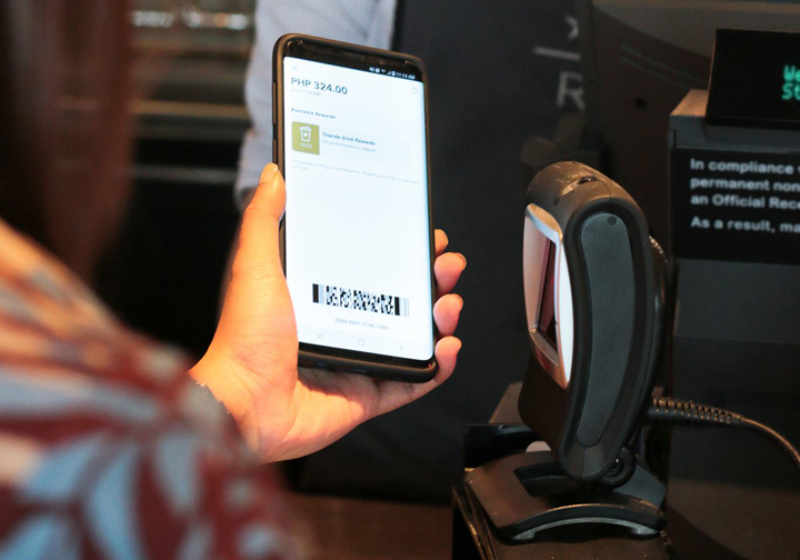 Starbucks PH App scan to pay