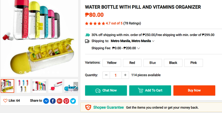 Get this Waterbottle-with-Pill-Organ from Shopee, download the Shopee app