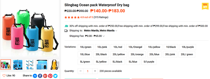 Get this Waterproof-Drybag from Shopee, download the Shopee app
