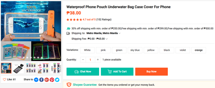 Get this Waterproof-Phone-Pouch from Shopee, download the Shopee app