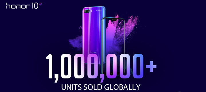 Honor 10 Sold over 1 Million Units Globally ahead of Launch in the Philippines on May 30