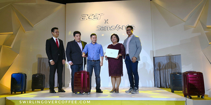 Every purchase of qualified Acer laptops, Predator laptops, and Acer desktops comes with a free Samsonite hardcase luggage worth P15,000.
