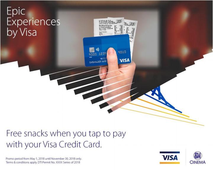 Epic Experience by Visa SM Cinema Free Snacks