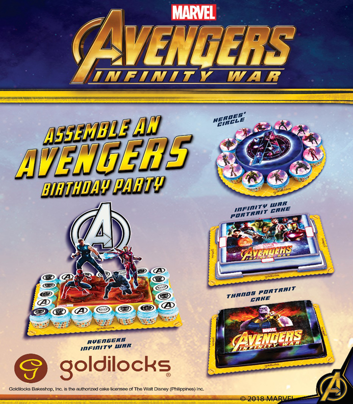 Treat your kids (or yourself) to a superhero celebration with The Avengers: Infinity War themed cakes!