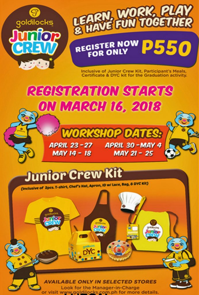 Now on its fourth year, the Goldilocks Junior Crew is expanding its reach to include 11 more Goldilocks stores in Visayas and Mindanao.