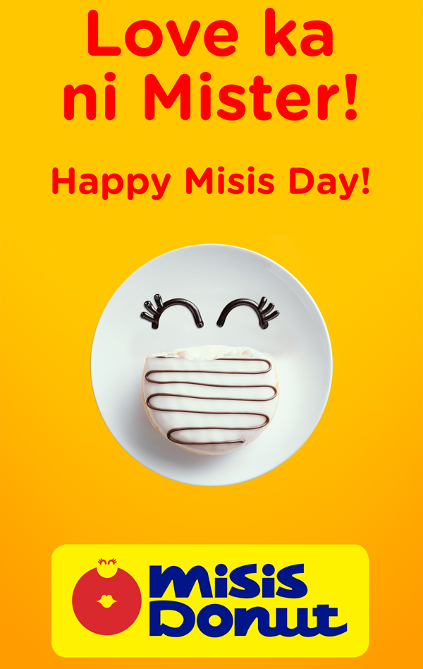 Mister Donut becomes Misis Donut for Mother's Day.