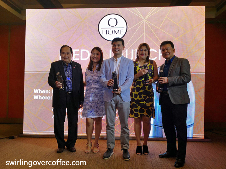 Left to Right: Present at the OHome product launch were Guest Speaker Dr. Rey J. Echavez (who talked about the health benefits of consuming pure hydrogen water), Gomeco Group Of Companies Founder & Chairman Mr. George L. Kaw, Gomeco Group Of Companies Executive Vice President Alicia T. Kaw, OHome Brand Advocate Jenica G. Kaw, and Multi-Mach International Inc. Chief Executive Officer Oliver T. Kaw.