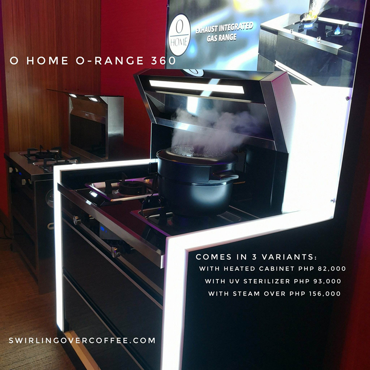 The O-Range line up of exhaust-integrated gas ranges are meant for healthy cooking. It has a built-in cooker hood that absorbs harmful smoke produced by cooking, eliminating up to 99% of pollutants. The O-Range comes in different variants.