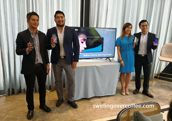Left to Right: Dan Torres, Marketing Communications Head for IT and Mobile; Nico Gonzales, Marketing Manager for Core Smartphones; Chesca Tangco, Product Marketing Manager for Premium Smartphones; and Benson Galguerra, Category Head for Core Smartphones.