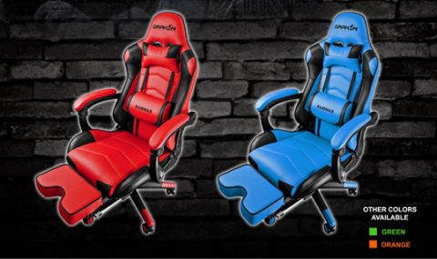 Game comfortably for long hours on the Raidmax Drakon Gaming Chair