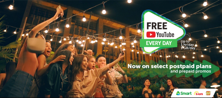 Free YouTube now also available to all Smart, Sun Postpaid customers