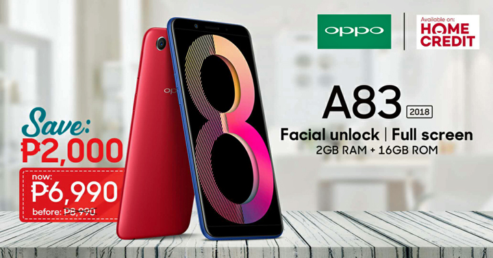 Price Drop: OPPO A83 2018 is now only P6,990