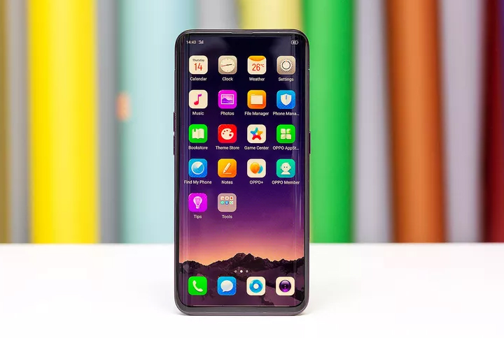 The OPPO Find X (6.4-inch OLED display, Snapdragon 845, 8GB RAM, up to 256 ROM, 3730 mAh battery with VOOC fast wired charging, Android 8.1 Oreo with Color OS) achieves a 92.25 percent screen to body ratio by hiding the front and rear cameras in a motorized slide out panel on top of the phone.