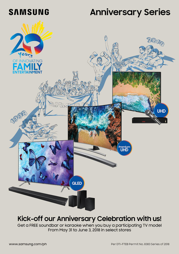 Samsung TV Kicks Off its 20th Anniversary with Special Offers from May 31 to June 3!