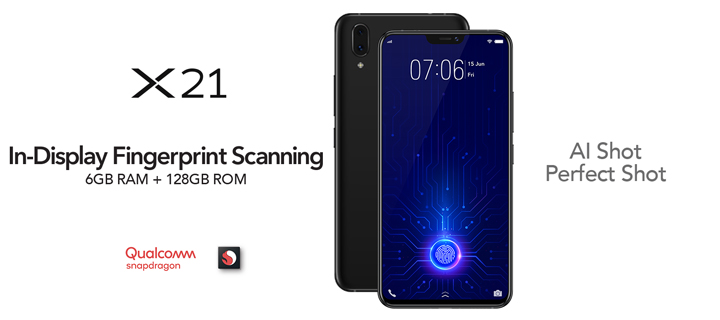 P29,999 Vivo X21 is the first widely available smartphone with an in-display fingerprint sensor