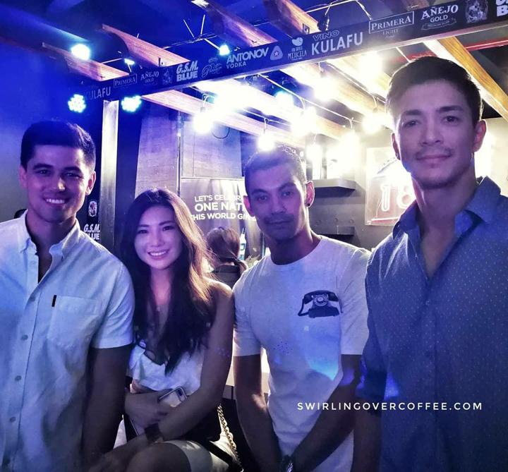 (L-R:) Christian Busby, Chelsea Robato, Gab Valenciano, and Sam Ajdani.