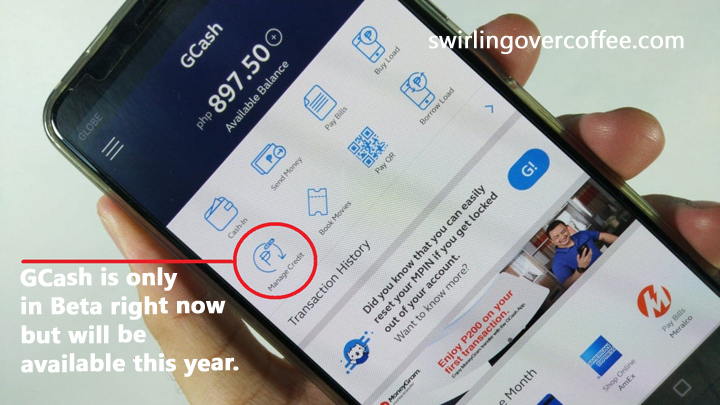 GCredit lets you borrow GCash funds for shopping even when your GCash wallet is empty.