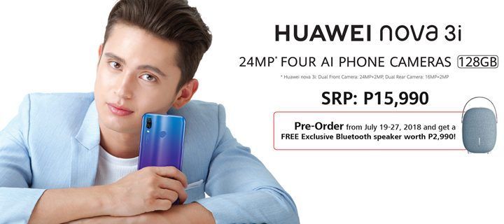 Pre-Order the Quad Camera P15990 Huawei Nova 3i from July 19 to 27