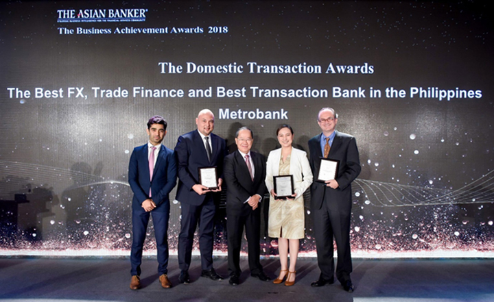 Metrobank bags Best Transaction Bank Award, 2 other honors at The Asian Banker Awards