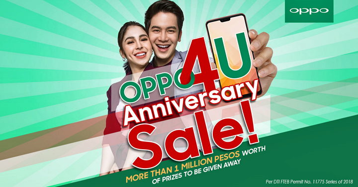 To celebrate OPPO's 4th year in the Philippines, the company is holding the #OPPO4U Anniversary Sale this July 2018.