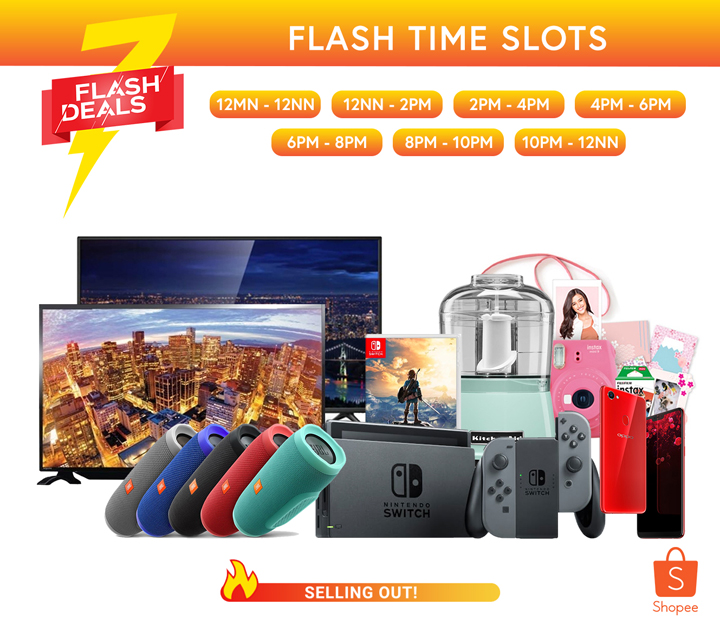 Shopee celebrates Orange Day from July 13 to 15 with a bumper flash sale, featuring up to 90% discounts on various products and free shipping for 24 hours.