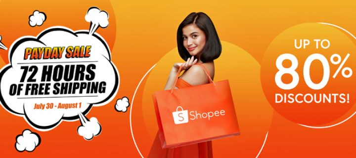 Enjoy 72 Hours of Free Shipping and Up to 80% Discounts on Premium Items like Denon Turntable, Nintendo Switch, Sharp TV and many more on Shopee's Payday Sale!
