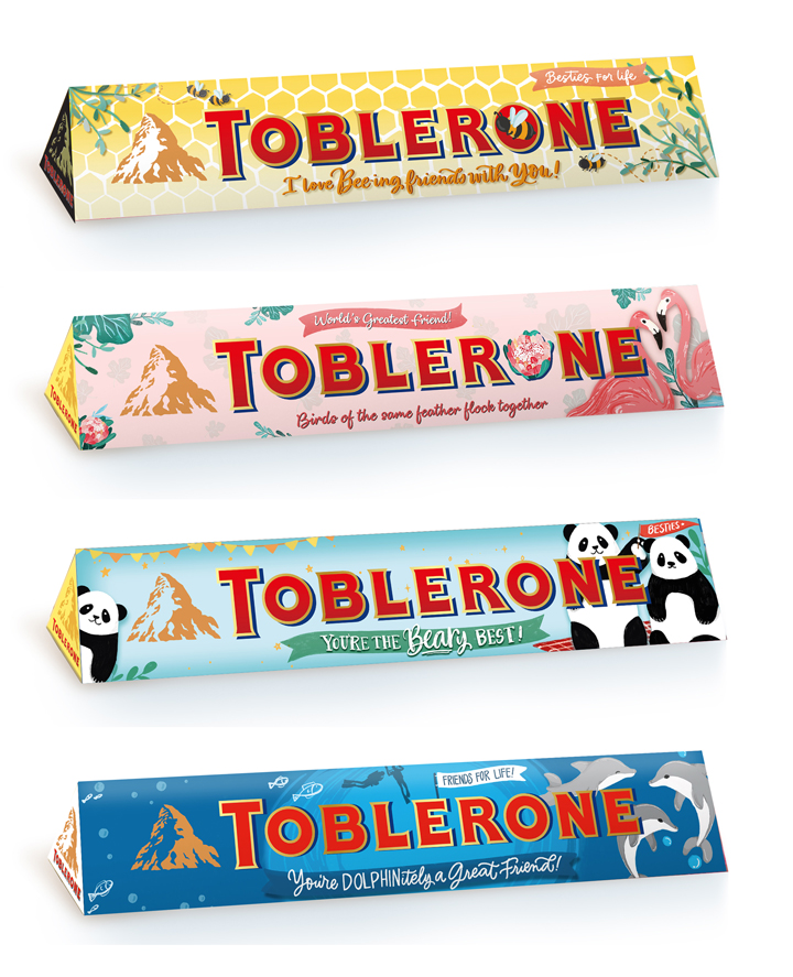 The Limited Edition Toblerone Friendship Day packs are available in 100g (Php 106) and 200g (Php 206).