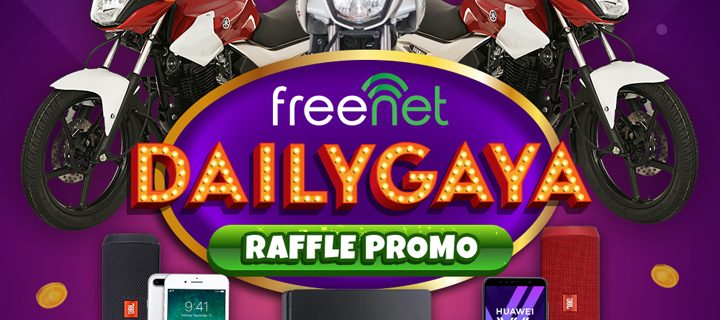 freenet's Dailygaya Raffle Promo gives its users a chance to win prizes every day from July 23 to September 29