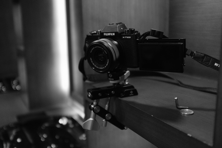 Fujifilm X-T100 mounted at 28 Cavalry's shelves.