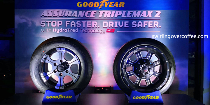 The Goodyear Assurance TripleMax 2 lets you brake on wet roads - perfect for the rainy season.
