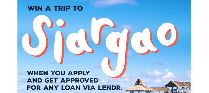 Through Lendr, you can win an all expense paid vacation for two to Siargao – Here's how
