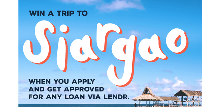 Win an all expense paid trip for two to Siargao by joining Lendr's promo