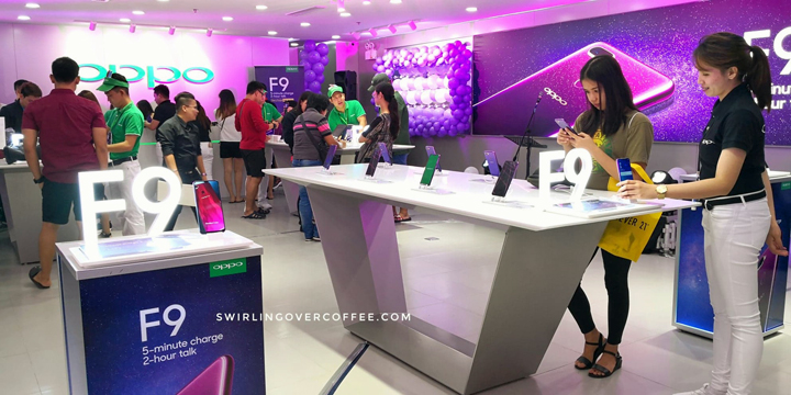 Check out the Starry Purple variant of the OPPO F9 at the new OPPO store in Glorietta 2.