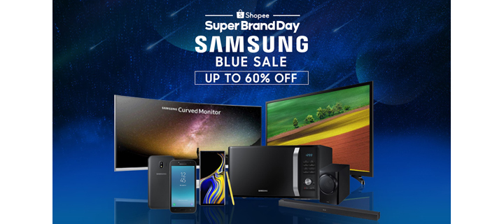Shopee launches its first tech-themed Super Brand Day with the Samsung Blue Sale