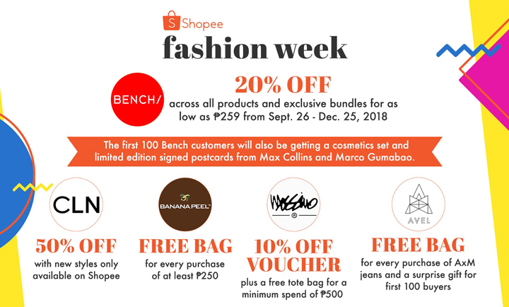 From September 19 to 25, score attractive deals from leading fashion brands like Bench, Silverworks, Banana Peel, and many more