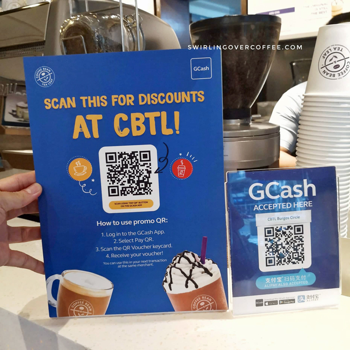 The Coffee Bean & Tea Leaf now accepts GCash scan to pay, launches