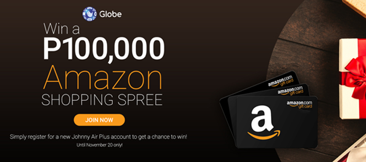 Get the ultimate P100,000 Black Friday/Cyber Monday shopping spree from Globe and Amazon!