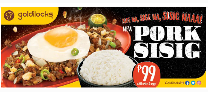 Goldilocks introduces new addition to their menu: Pork Sisig!