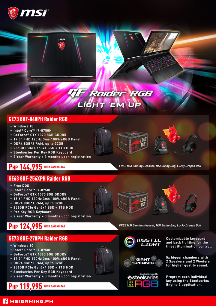 MSI Gaming Laptop Christmas Promo