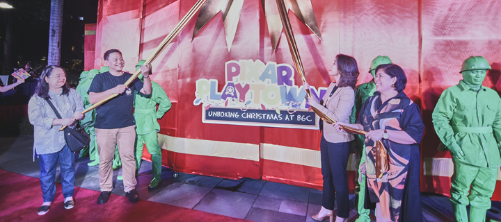 Christmas at Pixar Playtown in BGC